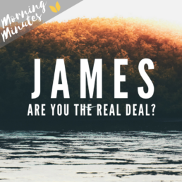 James - Are You The Real Deal? Morning Minutes